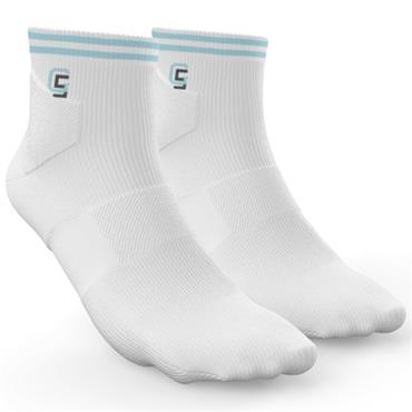Golf Sock Ireland Ladies Socks Maria 2 Pair Pack  White Sky