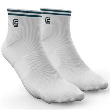 Golf Sock Ireland Ladies Socks Maria 2 Pair Pack  White Petrol