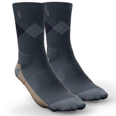 Golf Sock Ireland Gents Elite Socks Richard 2 Pair Pack  Grey