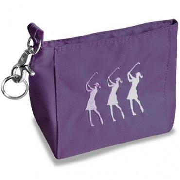 Surprizeshop Ladies Embroidered Golfer Handbag  Purple