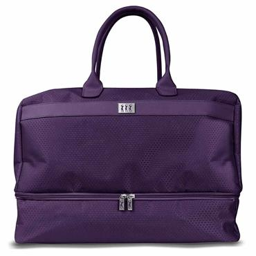 Surprizeshop Honeycomb Holdall with Shoe Compartment  Purple