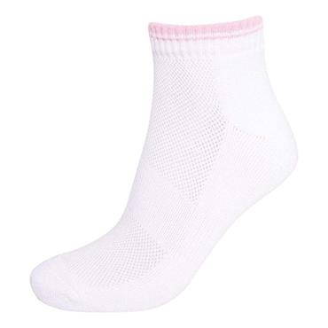 Glenmuir Ladies Ardelle Socks 2-Pairs  White/Candy
