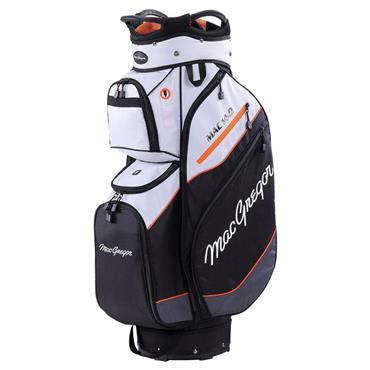 "MacGregor Mac 14.0 10"" Cart Bag  Silver/Black/Orange"