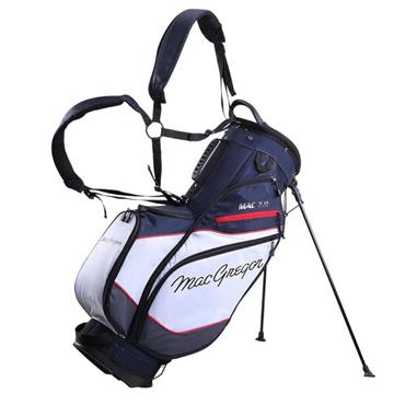 """MacGregor Mac 7.0 9.5"""" Stand Bag  Navy/White/Red"""