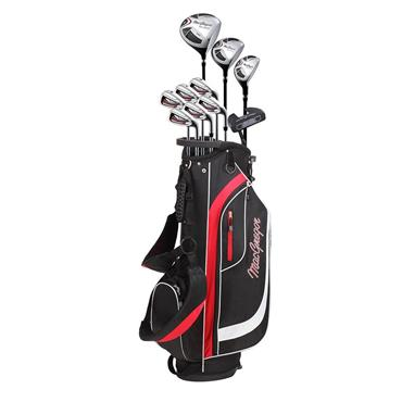 MacGregor CG2000 Steel Cart 6-SW Package Set Gents Left Hand Black/Red