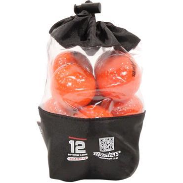 Masters Golf Titanium Ball Vinyl Bag 12 Dozen Orange