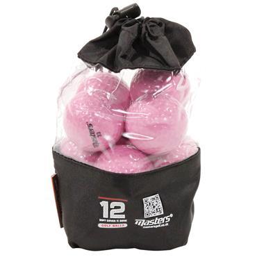 Masters Golf Titanium Ball Vinyl Bag 12 Dozen Pink