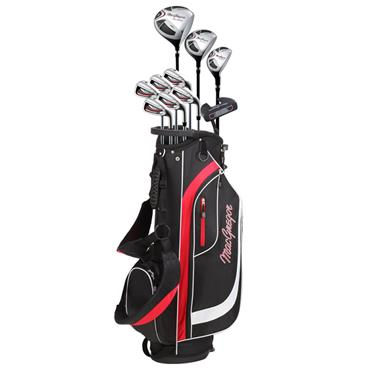 MacGregor CG2000 Steel 6-SW Package Set Stand Bag Gents Left Hand Black/Red