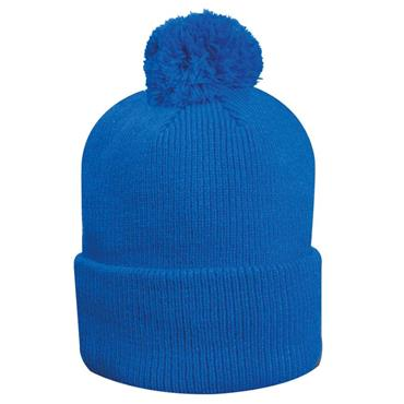 Glenmuir Uni Malabar Lined Rib Bobble Hat  ASCOT BLUE