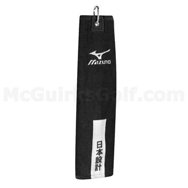 Mizuno TriFold Clip Towel  Black