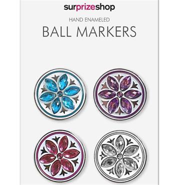 Surprizeshop Cflower Ball Marker Set  Crystal