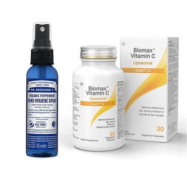 Dr Bronner Wellness Pack [Vit C & Dr Bronner]  Peppermint