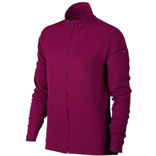 6a3bef0a4 Nike Corporate Ladies Full Zip Dri-Fit Jacket Berry   Golf Store