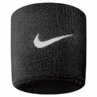 Nike Swoosh Wristband  Black - White