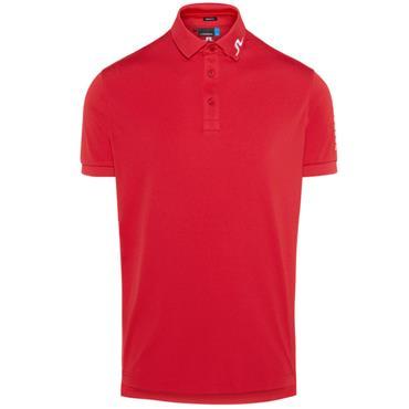 J.Lindeberg Gents Tour Tech Regular TX Jersey Polo Shirt Red