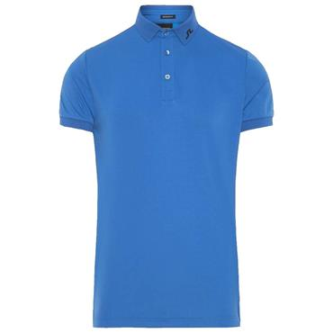 J.Lindeberg Gents KV TX Jersey Polo Shirt Work Blue