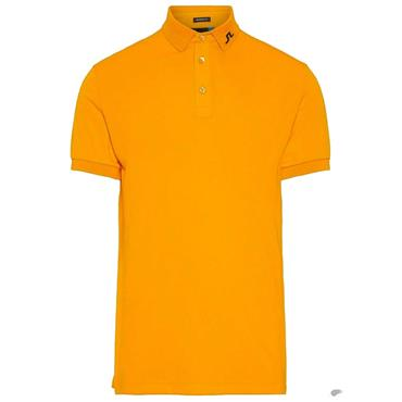 J.Lindeberg Gents KV TX Jersey Polo Shirt Orange