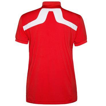 J.Lindeberg Gents KV Reg TX Jersey Polo Shirt Red