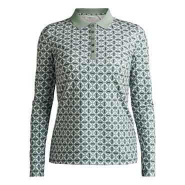 Rohnisch Ladies Achieve Long-Sleeved Polo Shirt Green Rings