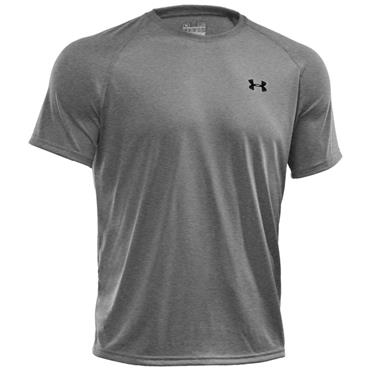 Under Armour Gym Gents Tech Short Sleeve Shirt Grey