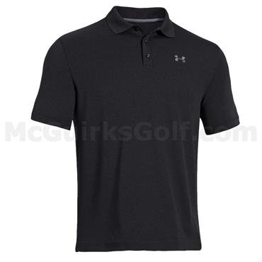 Under Armour Gents Performance Polo Shirt Black - White