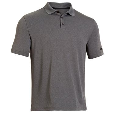 Under Armour Gents Performance Medal Play Polo Shirt Carbon Heather - Black