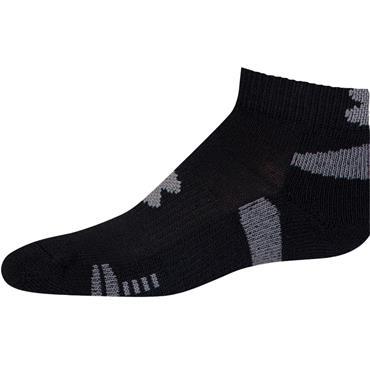 Under Armour Gym Gents Heatgear 3-Pack Low Cut Socks Black - White
