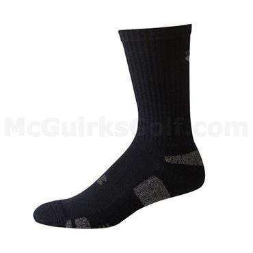 Under Armour Gym Gents Heatgear 3 Pack Socks Black - White