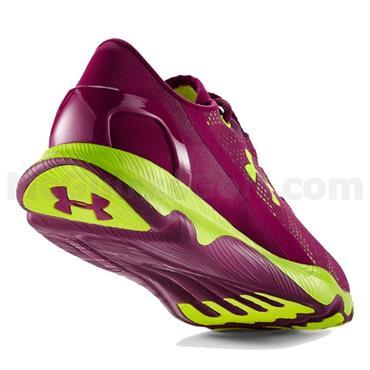 Under Armour Gym Ladies SpeedForm® Apollo Vent Running Shoes Aubergine - Yellow