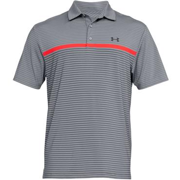 Under Armour Gents Playoff Polo Shirt Grey - Red