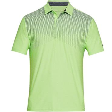 Under Armour Gents Playoff Polo Shirt Lime - Rhino Grey