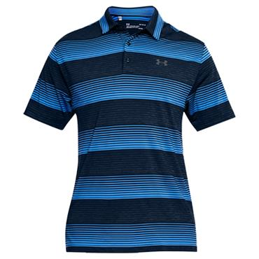 Under Armour Gents Playoff Polo Shirt Navy Stripe