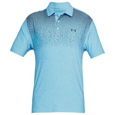 Under Armour Gents Playoff Polo Shirt Printed Blue