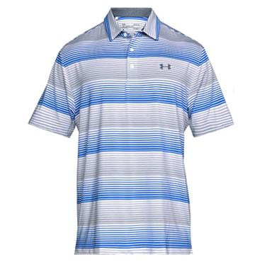 Under Armour Gents Playoff Polo Shirt White - Overcast Grey