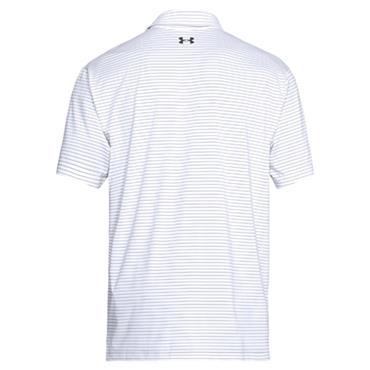 Under Armour Gents Playoff Polo Shirt White - Orange - Navy