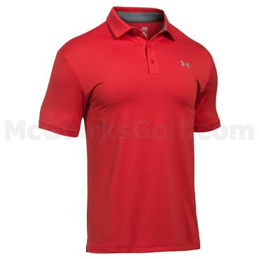 Under Armour Gents Playoff Polo Shirt Red - Steel
