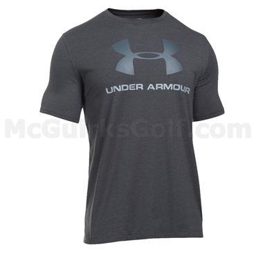 Under Armour Gents Sportstyle Logo Shirt Black - Steel