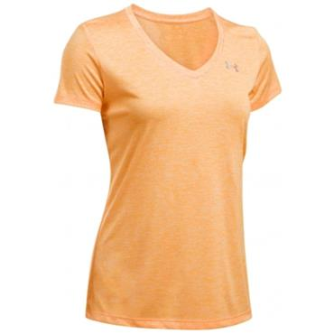 Under Armour Ladies Twist Tech V-Neck Top Orange