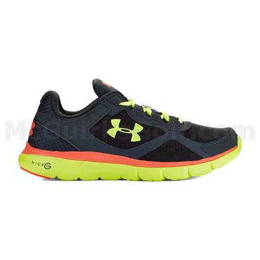 Under Armour Gym Gents Micro Velocity Running Shoes Grey - Orange