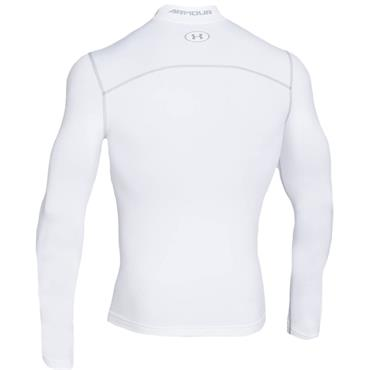 Under Armour Gents ColdGear Armour Compression Mock White - Steel