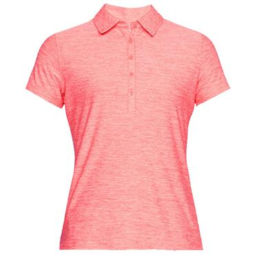 Under Armour Ladies Zinger Polo Shirt Coral