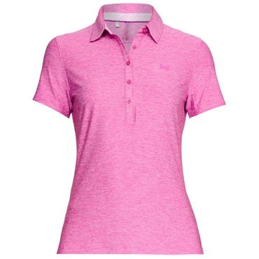 Under Armour Ladies Zinger Polo Shirt Fuchsia