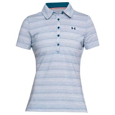 Under Armour Ladies Zinger Printed Polo Shirt Blue