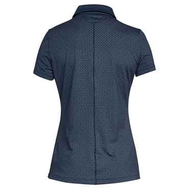 Under Armour Ladies Zinger Printed Polo Shirt Navy