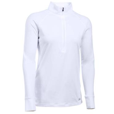 Under Armour Ladies Zinger 1/4 Zip Top White - Steel