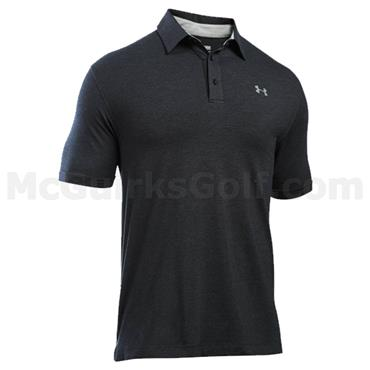 Under Armour Gents Charged Cotton Scramble Polo Shirt Black