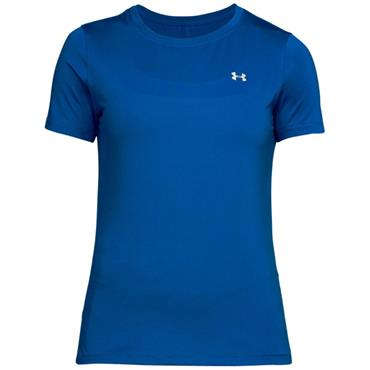 Under Armour Ladies  HeatGear Short Sleeve Top Blue