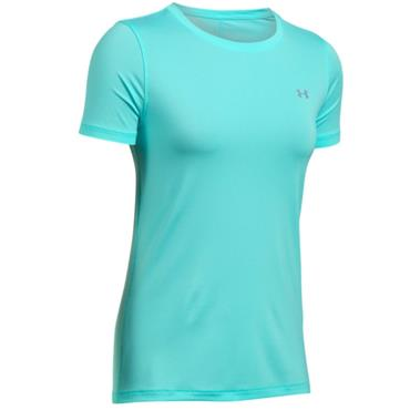 Under Armour Ladies HeatGear Short Sleeve Top Tropical Blue