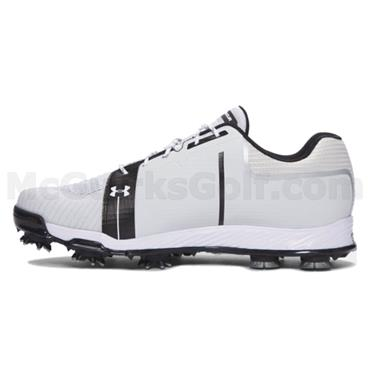 Under Armour Gents Tempo Sport Golf Shoes White - Silver - Black