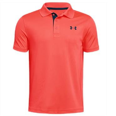 Under Armour Junior - Boys Performance Polo Shirt Dark Orange